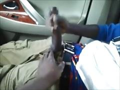 Wank in Friend's Car